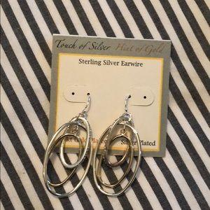 Two- tone dressy earrings, never worn!